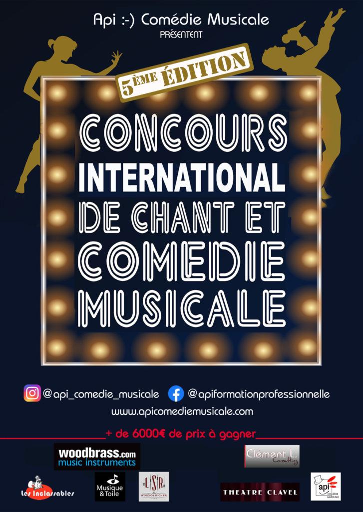 AFFICHE 2021 FINALE CONCOURS API COMÉDIE MUSICALE - PARTENAIRES